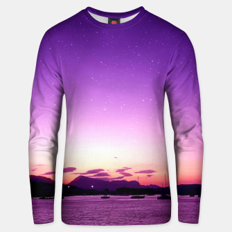 Sunset in Island Poros Greece Unisex sweater obraz miniatury