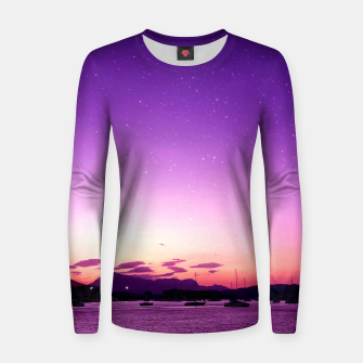 Thumbnail image of Sunset in Island Poros Greece Women sweater, Live Heroes