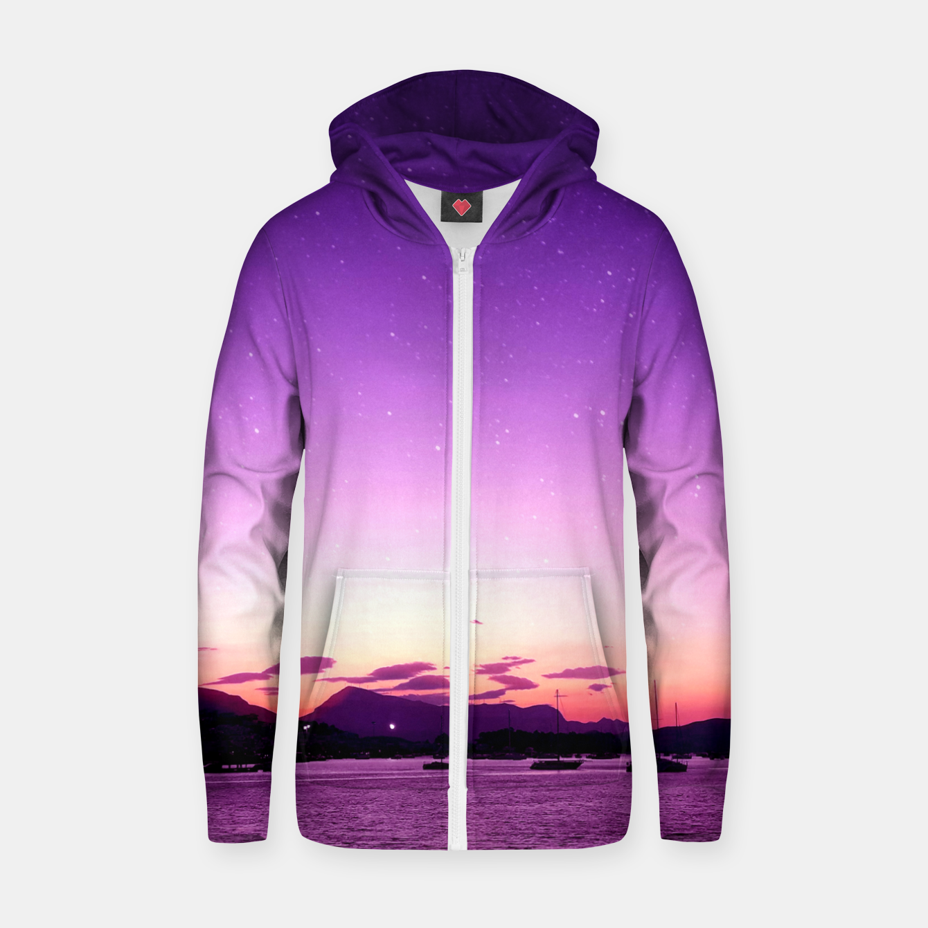 Zdjęcie Sunset in Island Poros Greece Zip up hoodie - Live Heroes