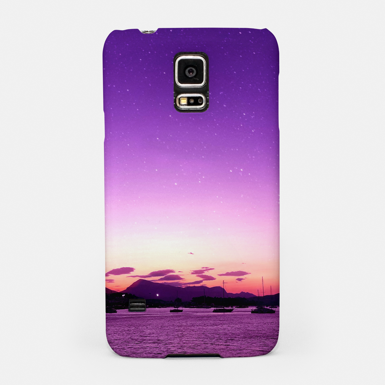 Image of Sunset in Island Poros Greece Samsung Case - Live Heroes