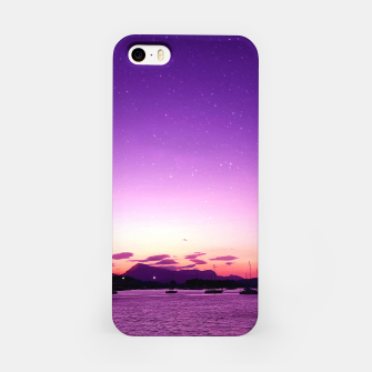 Sunset in Island Poros Greece iPhone Case obraz miniatury