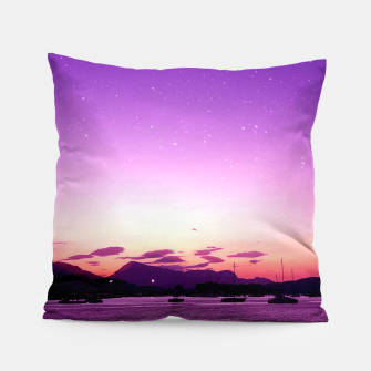 Sunset in Island Poros Greece Pillow thumbnail image