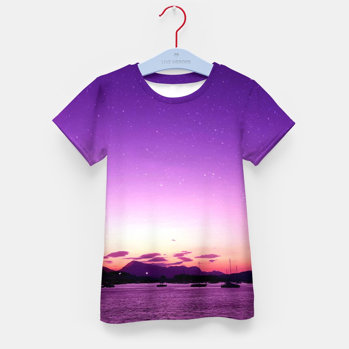 Zdjęcie Sunset in Island Poros Greece Kid's t-shirt - Live Heroes