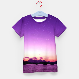 Sunset in Island Poros Greece Kid's t-shirt obraz miniatury