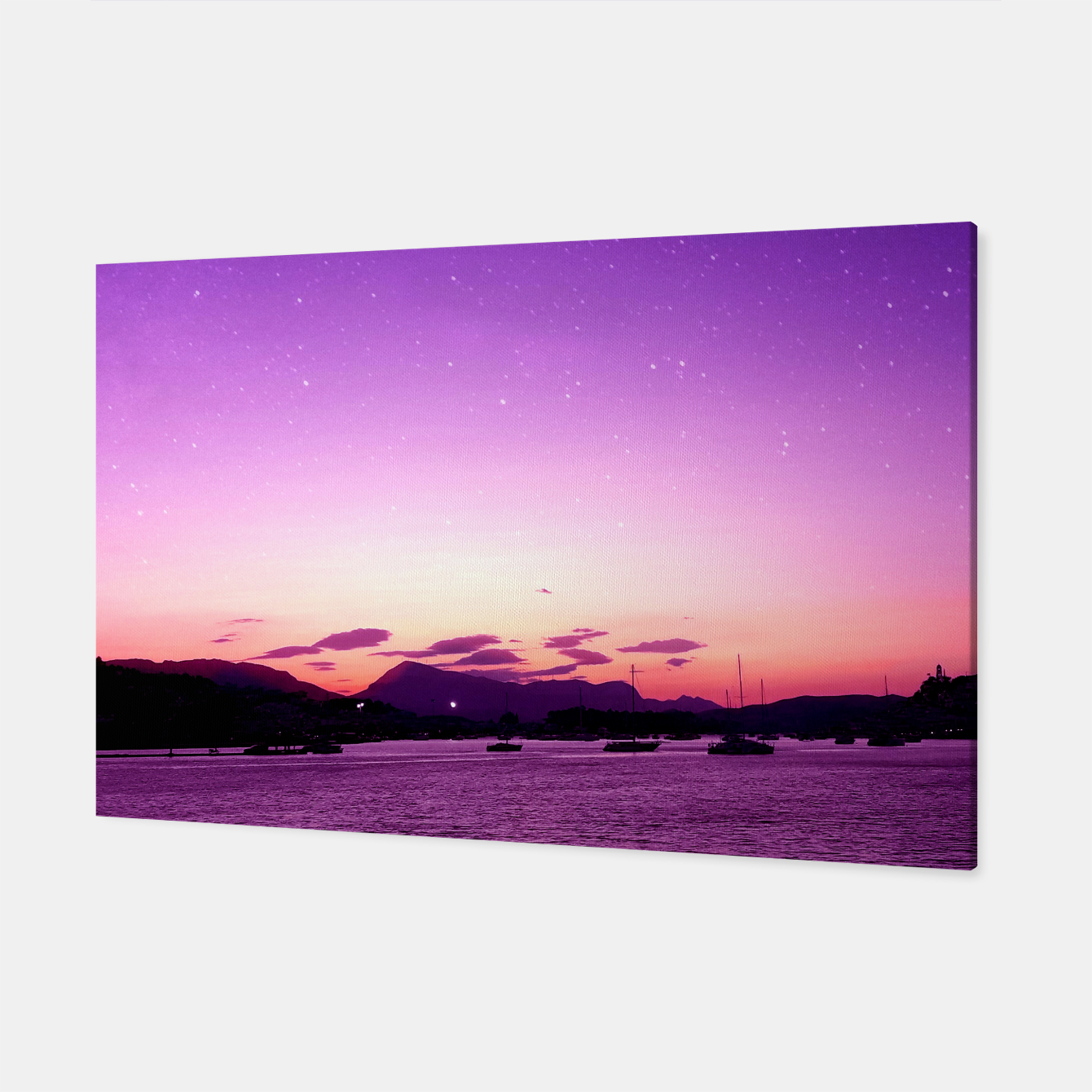 Image of Sunset in Island Poros Greece Canvas - Live Heroes