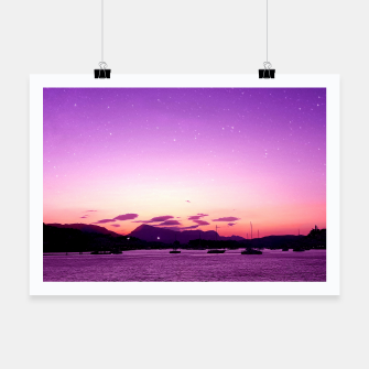 Sunset in Island Poros Greece Poster obraz miniatury