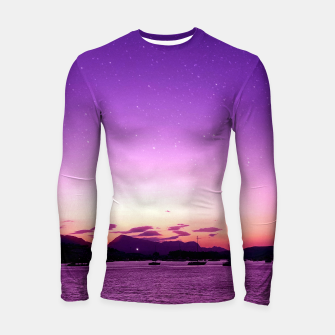 Thumbnail image of Sunset in Island Poros Greece Longsleeve rashguard , Live Heroes