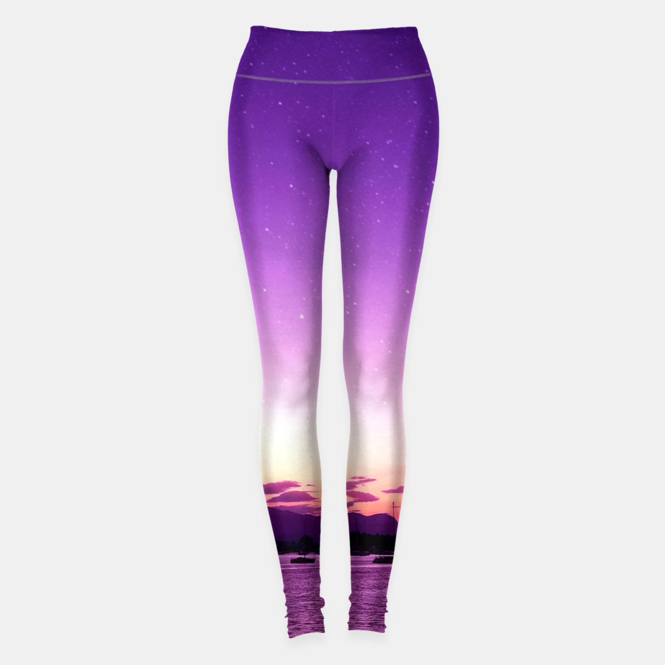 Image of Sunset in Island Poros Greece Leggings - Live Heroes