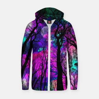 Thumbnail image of Magic forest Zip up hoodie, Live Heroes