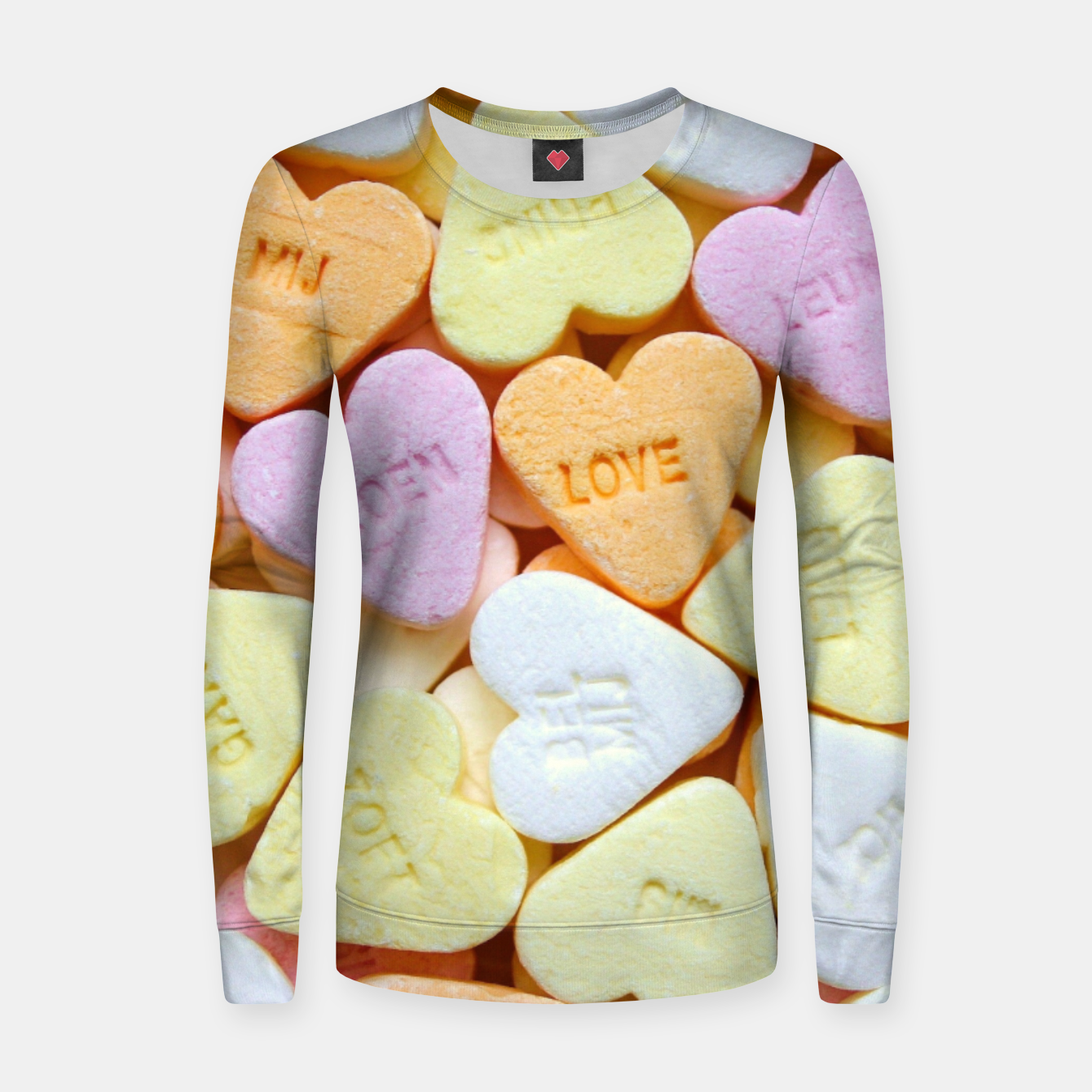 Image of Heart Candy Women sweater - Live Heroes