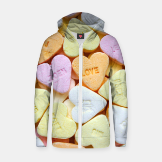 Heart Candy Zip up hoodie thumbnail image