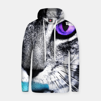 Thumbnail image of Purple eyes cat Hoodie, Live Heroes