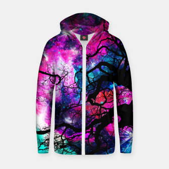 Thumbnail image of Starfield Tree Zip up hoodie, Live Heroes