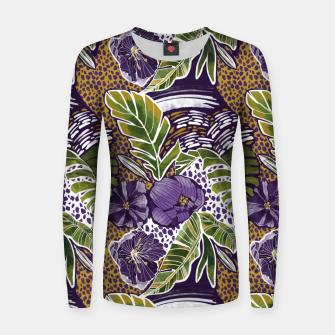 Nature jungle forms Sudadera para mujeres thumbnail image