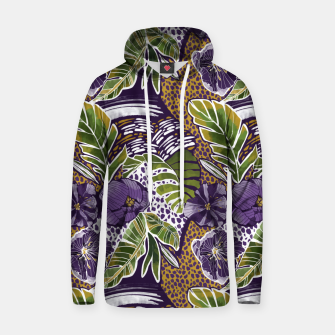 Nature jungle forms Sudadera con capucha thumbnail image