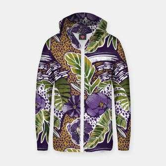 Nature jungle forms Sudadera con capucha y cremallera  thumbnail image