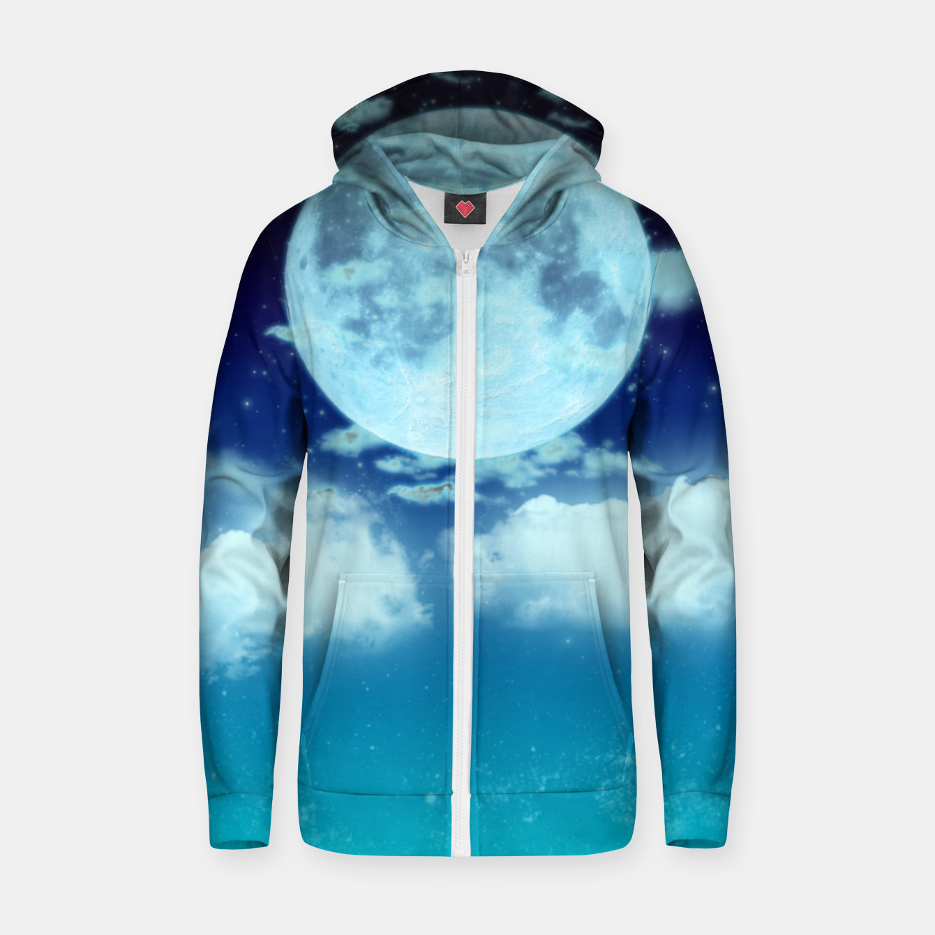 Image of Dreamy Night Zip up hoodie - Live Heroes