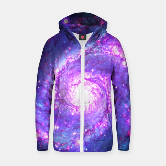 Thumbnail image of Ultra Violet Whirlpool Galaxy Zip up hoodie, Live Heroes