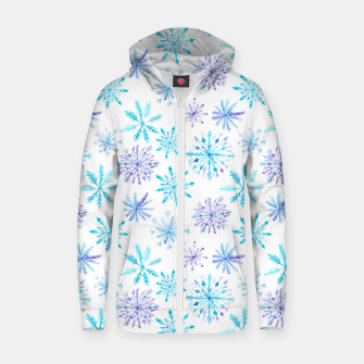 Thumbnail image of Snowflakes Zip up hoodie, Live Heroes