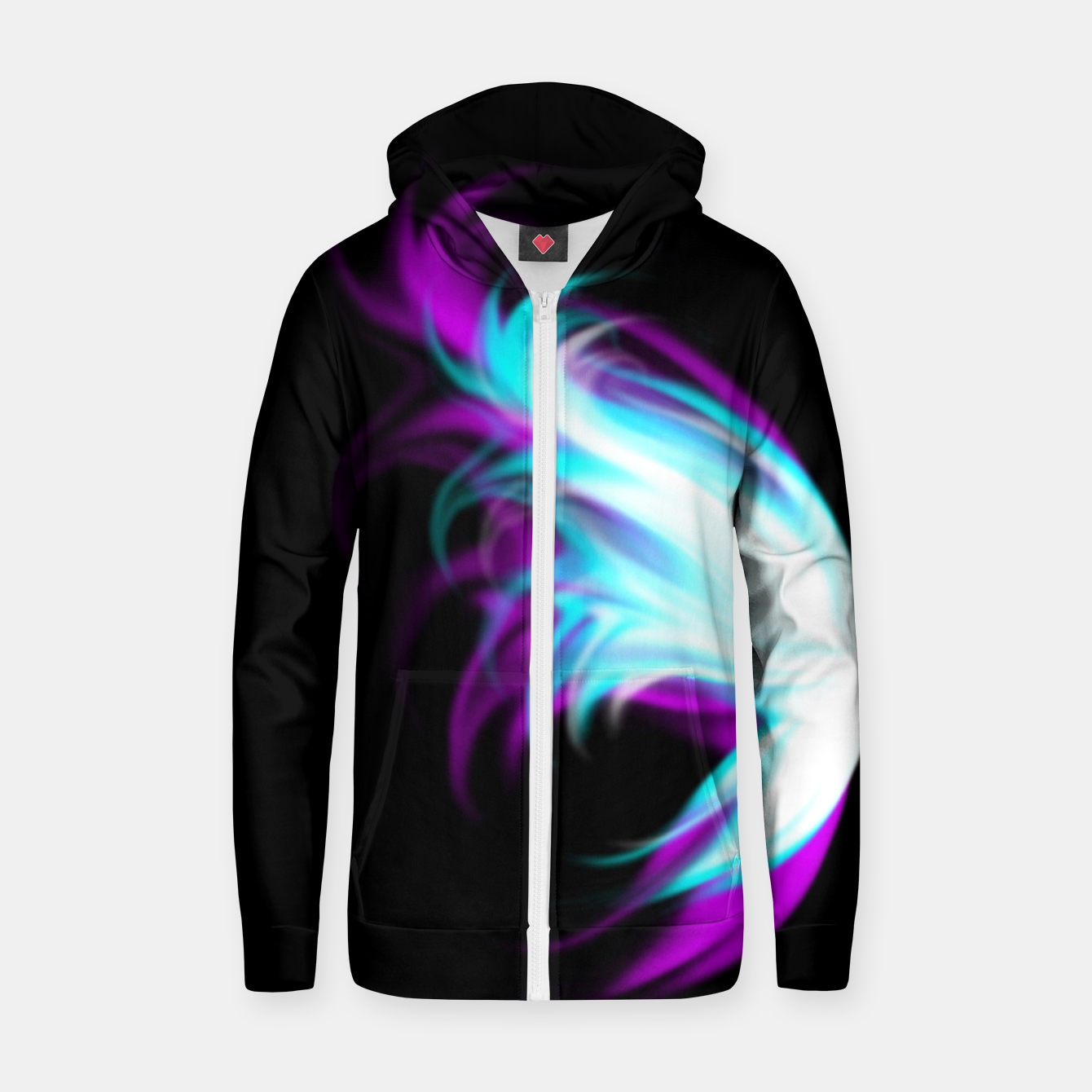 Image of Fairy Wings Zip up hoodie - Live Heroes