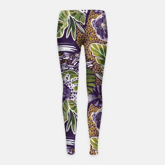 Nature jungle forms Leggings para niña thumbnail image