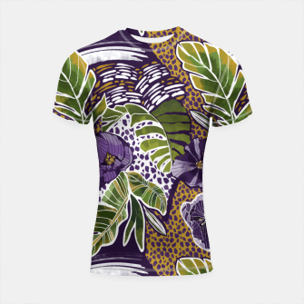 Miniaturka Nature jungle forms Shortsleeve rashguard, Live Heroes