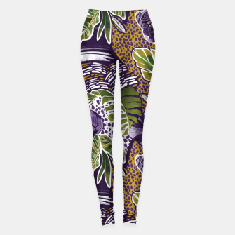 Nature jungle forms Leggings thumbnail image