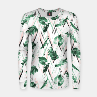 Abstract nature leaf Sudadera para mujeres thumbnail image