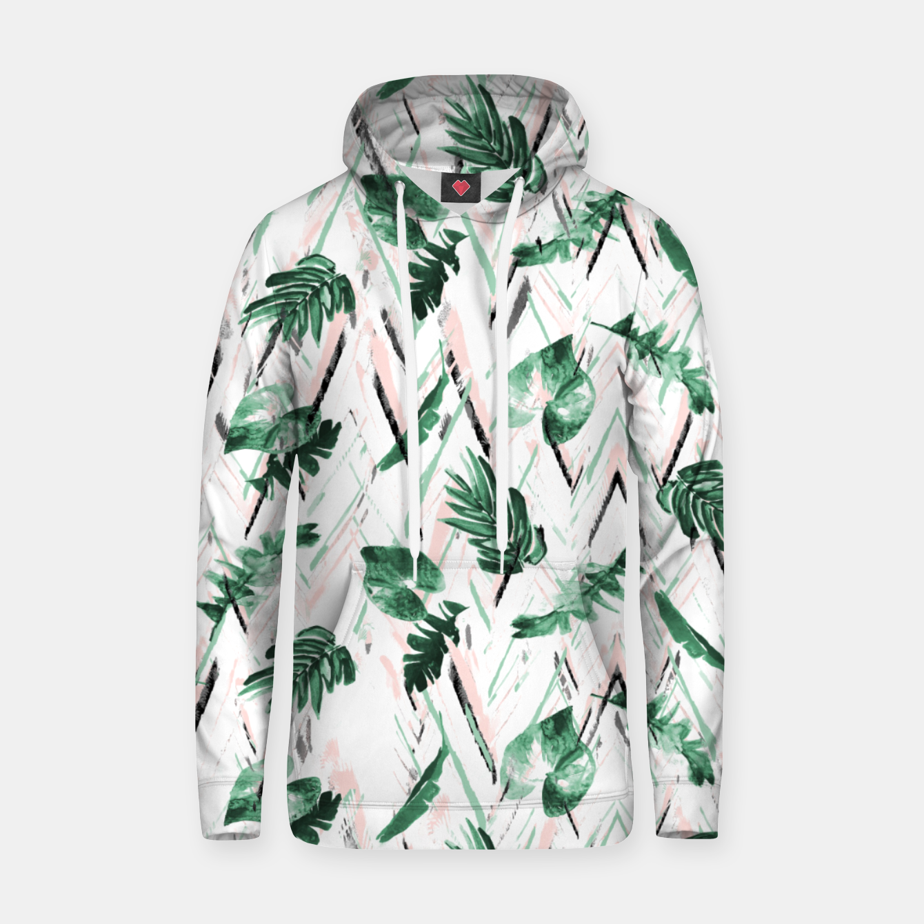 Image of Abstract nature leaf Sudadera con capucha - Live Heroes