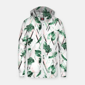 Abstract nature leaf Sudadera con capucha y cremallera  Bild der Miniatur
