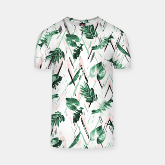 Thumbnail image of Abstract nature leaf Camiseta, Live Heroes