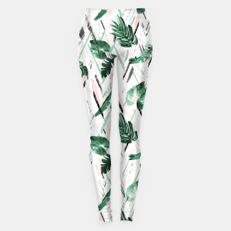 Thumbnail image of Abstract nature leaf Leggings, Live Heroes