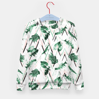 Abstract nature leaf Sudadera para niños thumbnail image