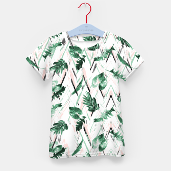 Abstract nature leaf Camiseta para niños Bild der Miniatur