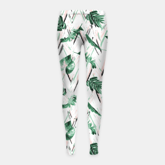 Thumbnail image of Abstract nature leaf Leggings para niña, Live Heroes