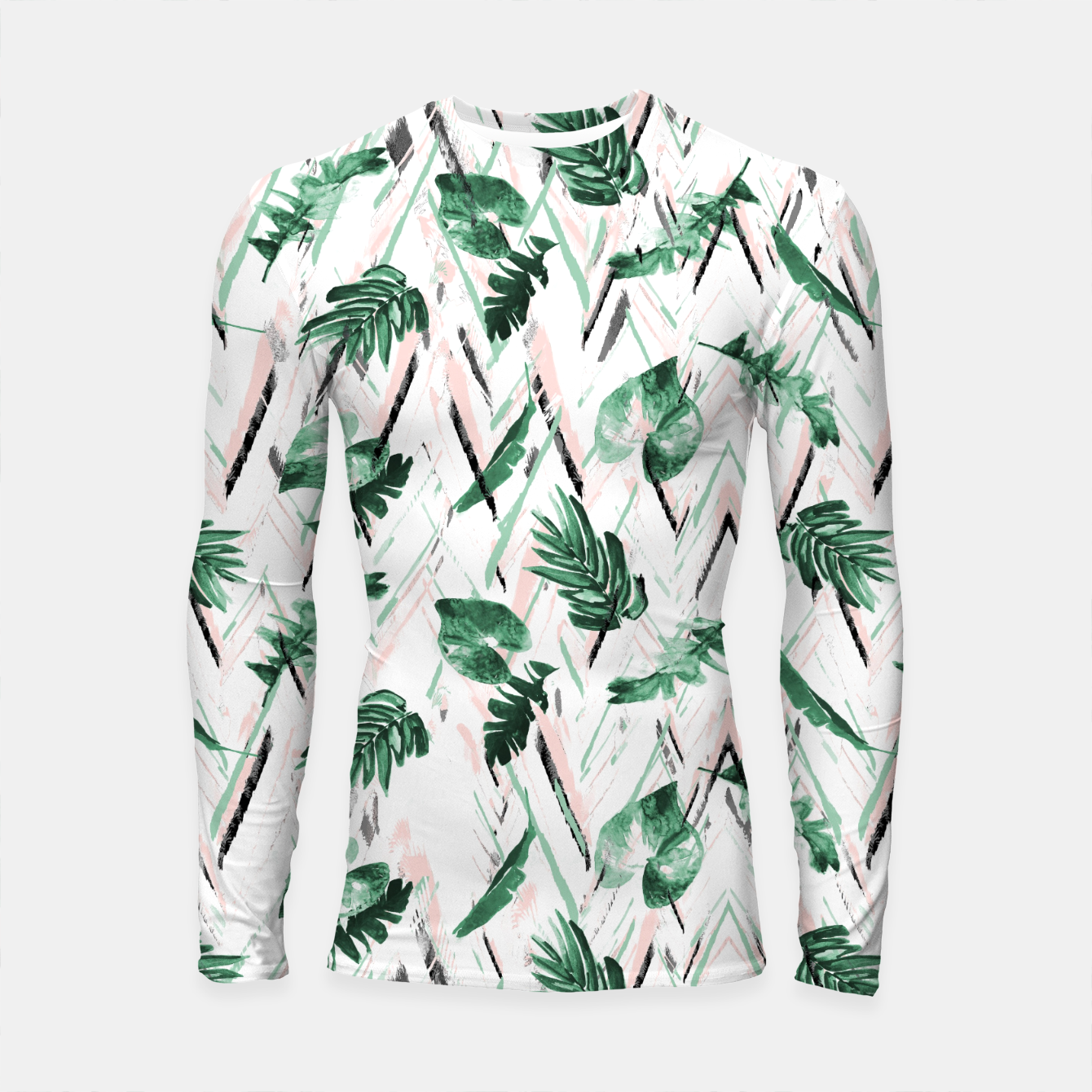 Image of Abstract nature leaf Longsleeve rashguard - Live Heroes