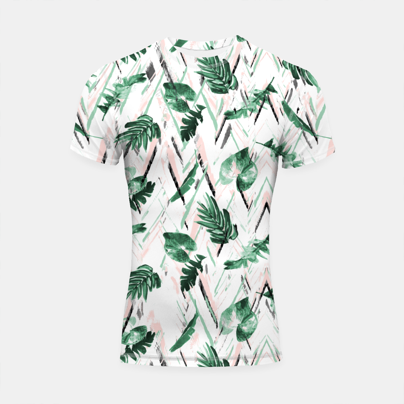 Foto Abstract nature leaf Shortsleeve rashguard - Live Heroes