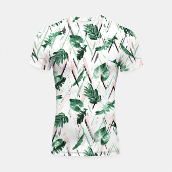 Miniaturka Abstract nature leaf Shortsleeve rashguard, Live Heroes