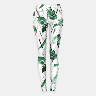 Abstract nature leaf Leggings Bild der Miniatur