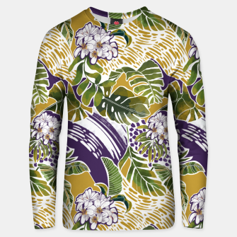 Nature jungle forms 2 Sudadera unisex Bild der Miniatur