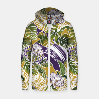 Thumbnail image of Nature jungle forms 2 Sudadera con capucha y cremallera , Live Heroes