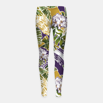 Nature jungle forms 2 Leggings para niña Bild der Miniatur