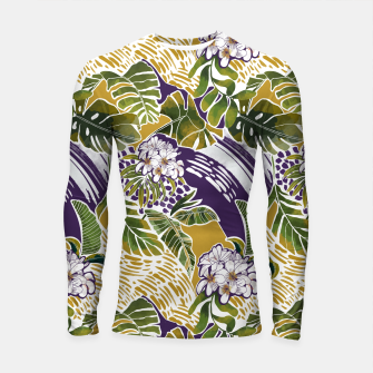 Nature jungle forms 2 Longsleeve rashguard Bild der Miniatur