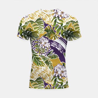 Nature jungle forms 2 Shortsleeve rashguard Bild der Miniatur