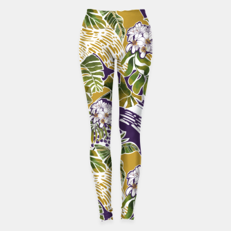 Thumbnail image of Nature jungle forms 2 Leggings, Live Heroes
