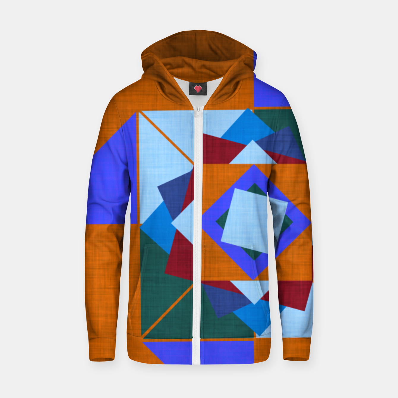 Image of Win Rose Orange Zip up hoodie - Live Heroes