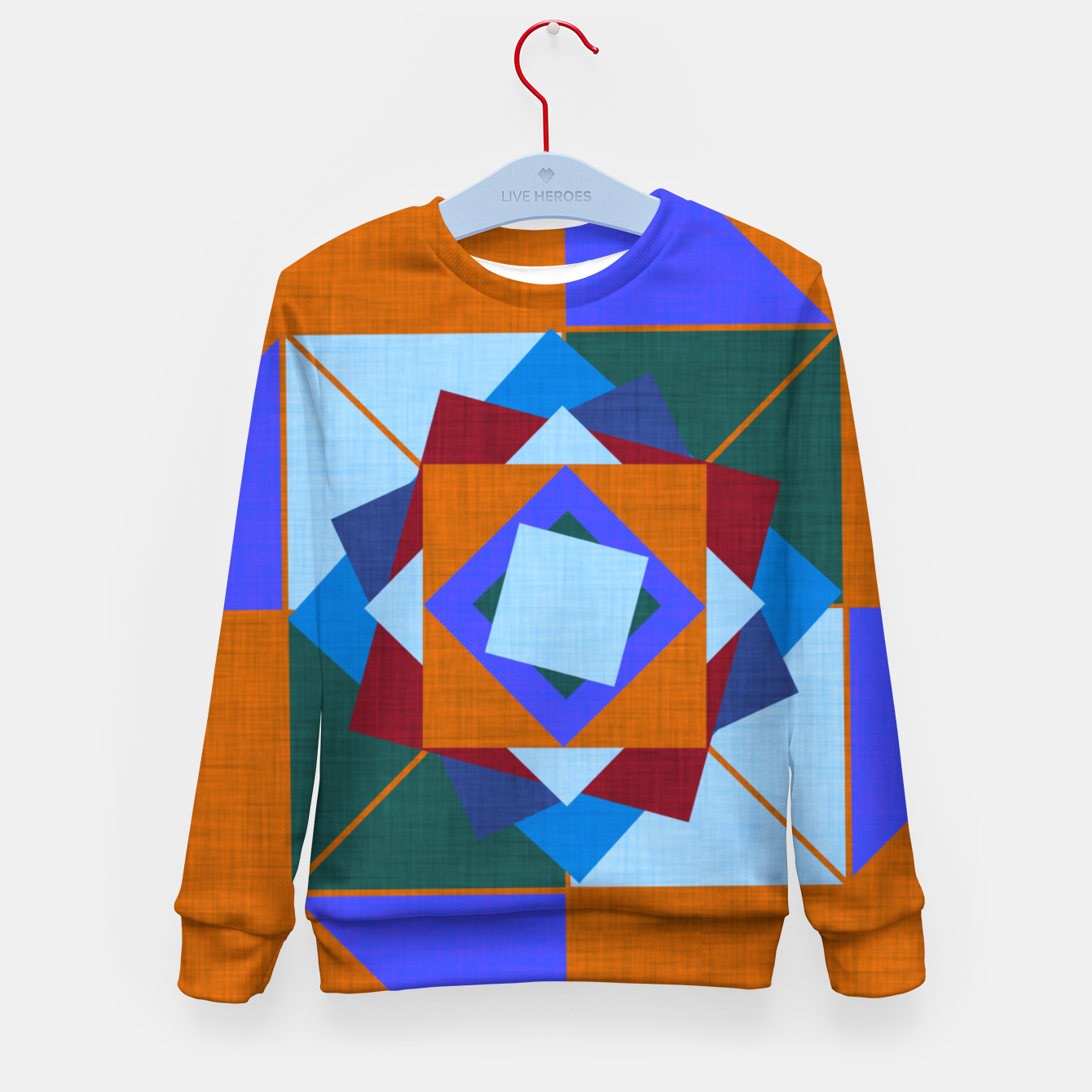 Image of Win Rose Orange Kid's sweater - Live Heroes