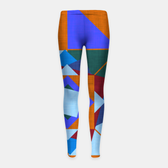 Win Rose Orange Girl's leggings thumbnail image