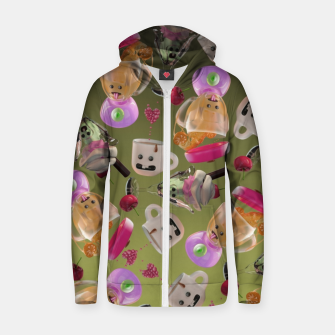 Thumbnail image of Kitchen Friends Zip up hoodie, Live Heroes