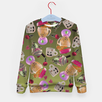 Thumbnail image of Kitchen Friends Kid's sweater, Live Heroes